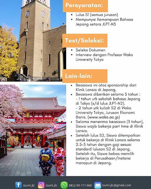Beasiswa s2 Jepang 2020 Izumi Foundation
