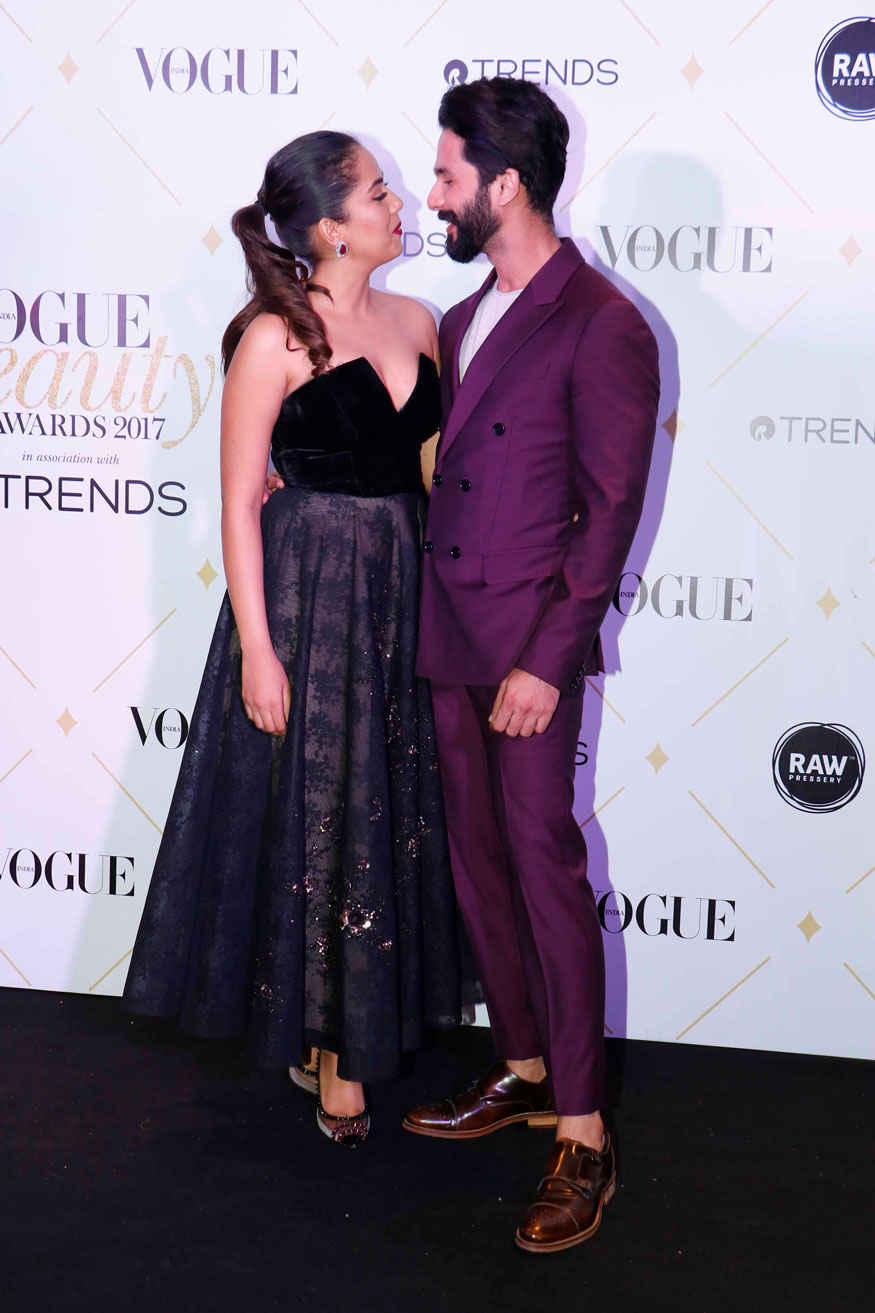 Shahid Kapoor and Mira Rajput at The 'Vogue Beauty Awards 2017' In Mumbai