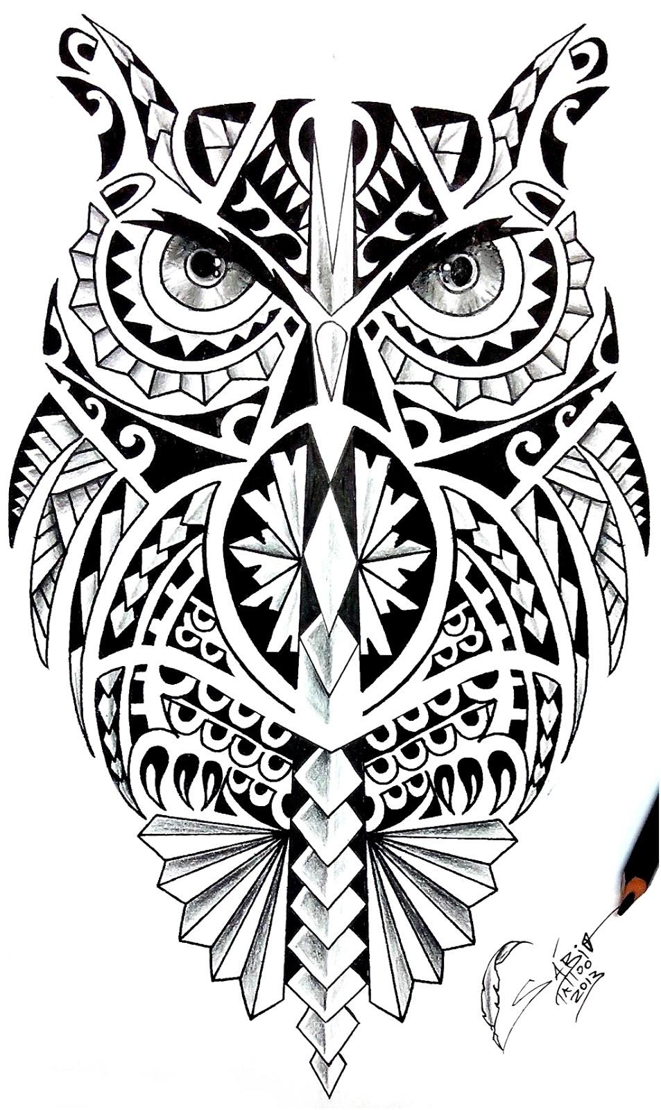 Desenhos De Corujas Para Tatuagem