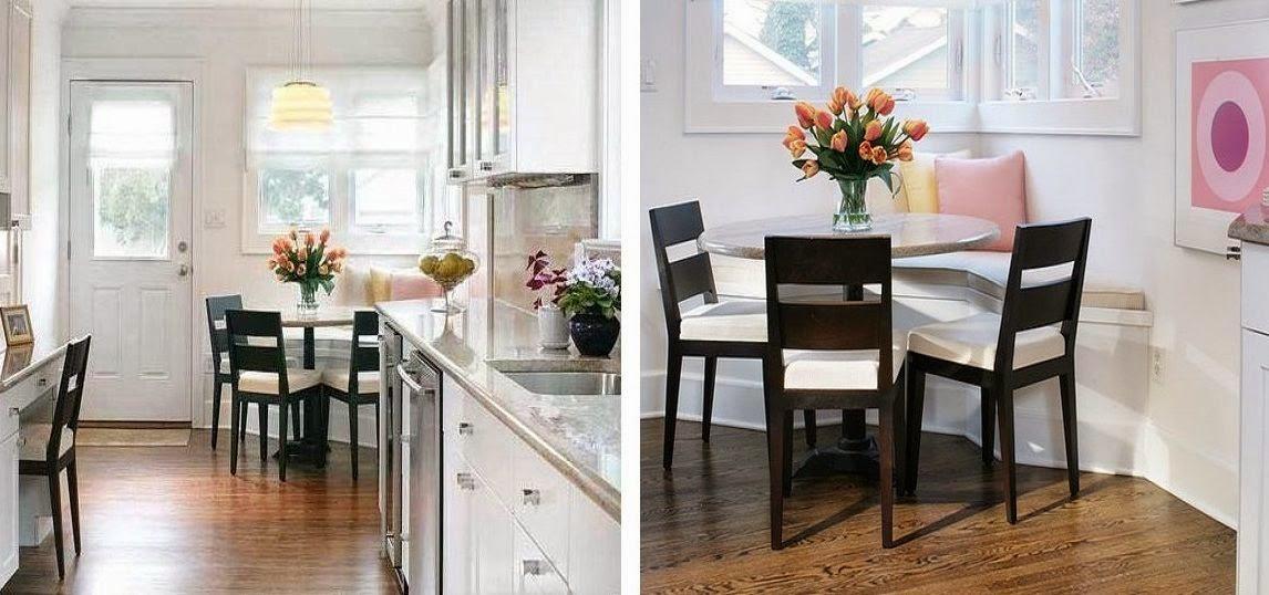 Rincones acogedores para comer en la cocina cocinas con estilo - Mesas redondas para cocinas ...