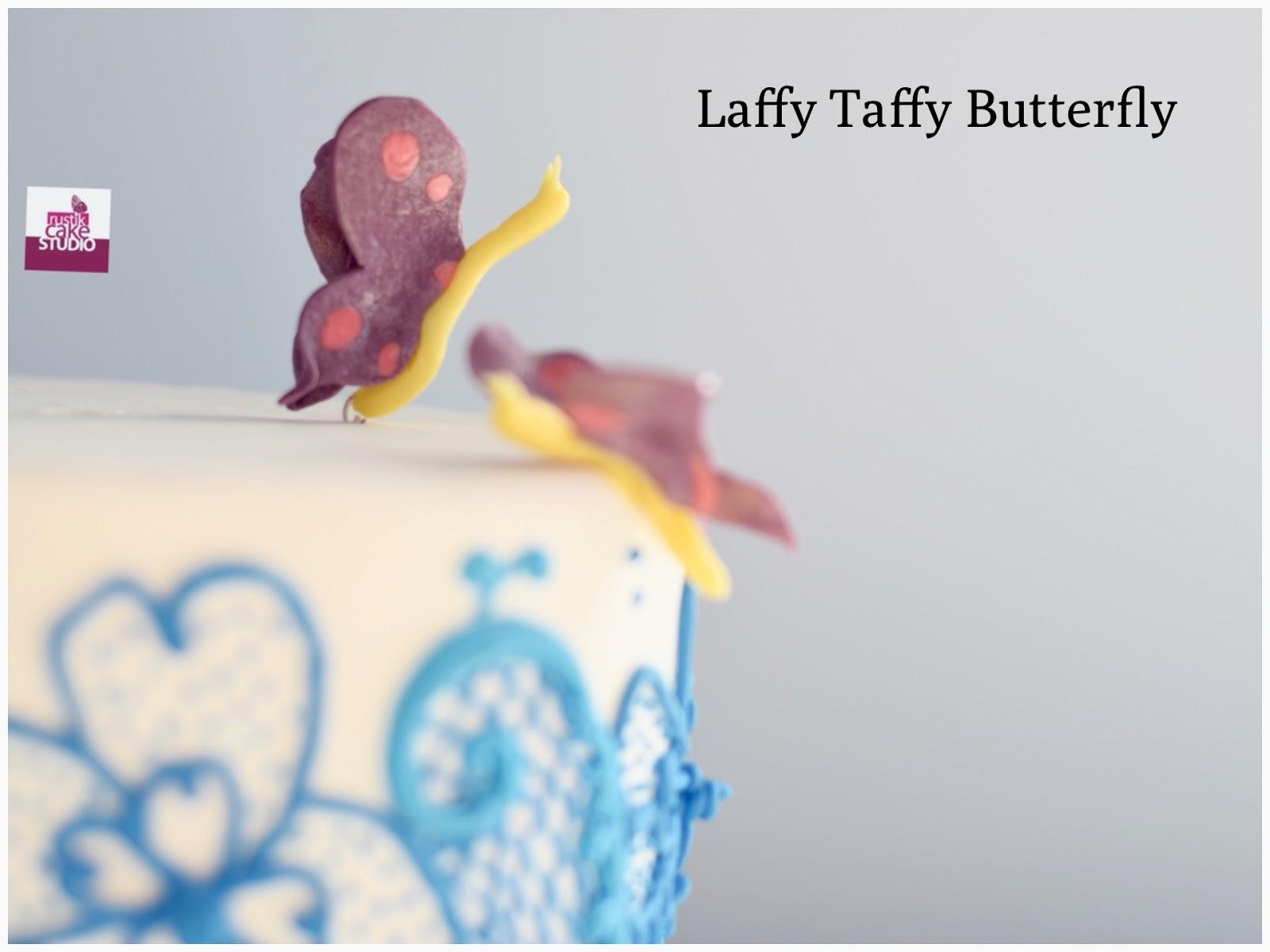 RUSTIK CAKE STUDIO: EDIBLE DECORATIONS: LAFFY TAFFY BUTTERFLY