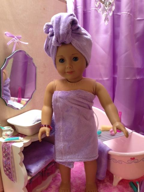 The Savage Dolls Bath Improvements And Bath Towel Tutorial