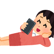 Smartphone nekorogaru woman