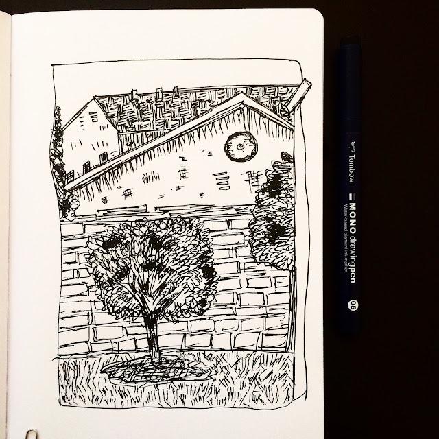 Backyard Scenes doodle