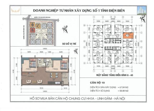 r!!^! Bán căn hộ 67m2 chung cư hh1a linh đàm giá sốc
