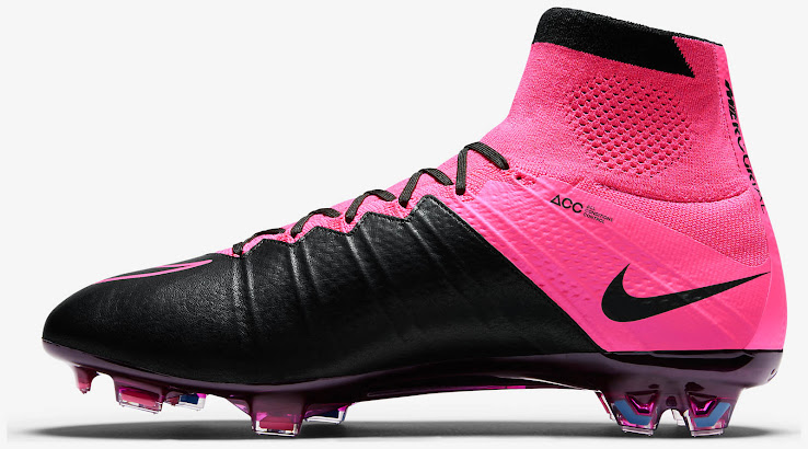 quality design 4b327 41e58 0eabf 169e2  coupon for the pink black upper of the nike mercurial superfly  2015 2016 leather cleat combines