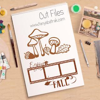 autumn frame cut file