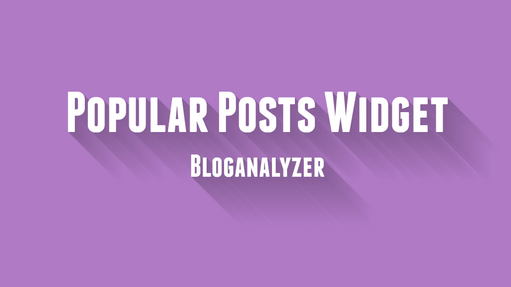 Customize Popular Post Widget