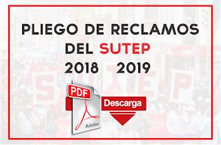 Pliego de reclamos del SUTEP 2018 – 2019