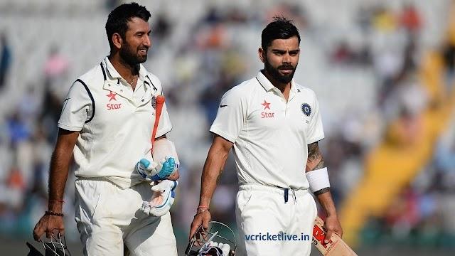 पुजारा, विराट और अश्विन के अर्ध शतक - भारत 6 विकेट खोकर 271