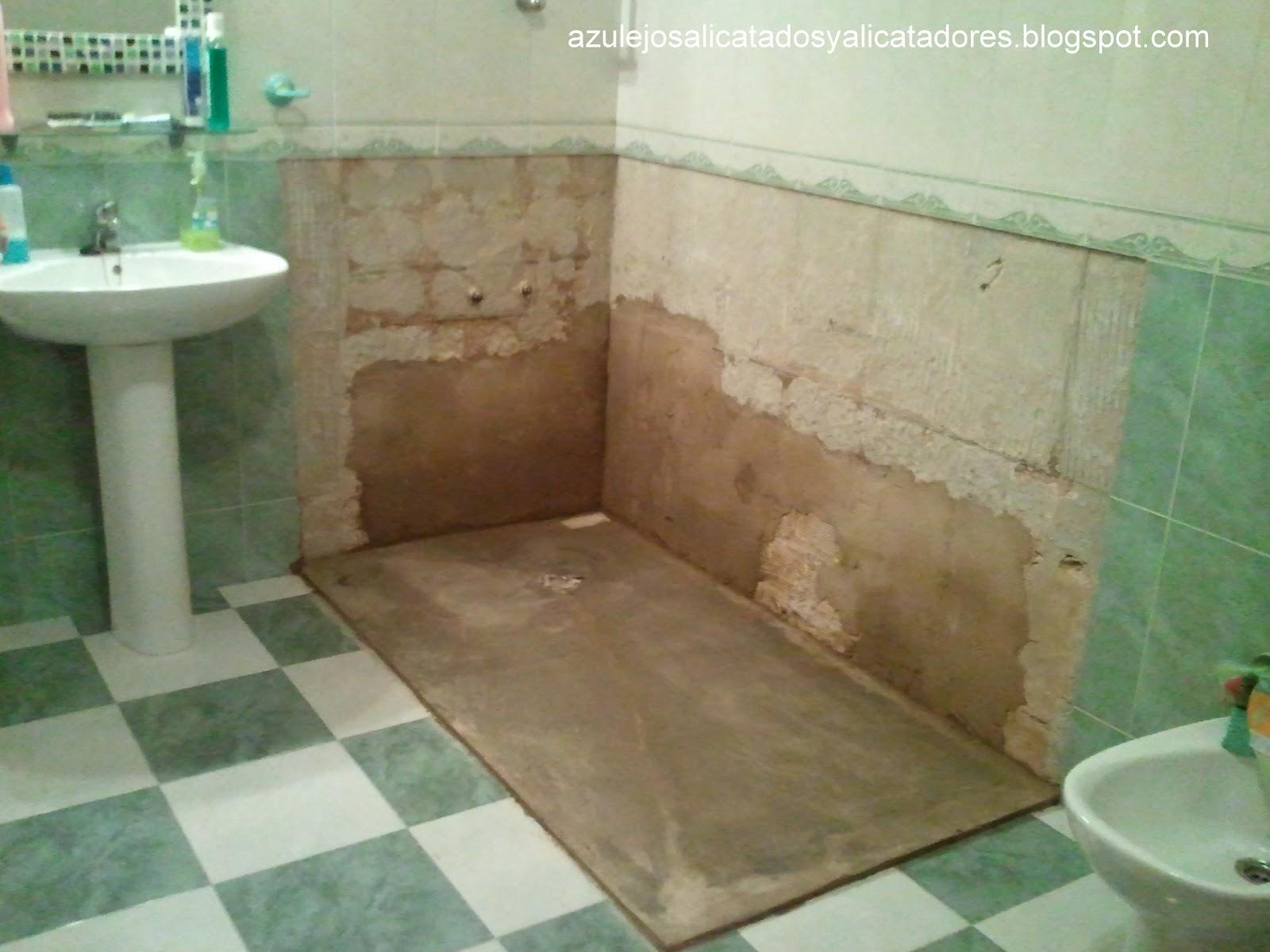 Azulejos alicatados y alicatadores ducha adaptada a - Azulejos para ducha ...
