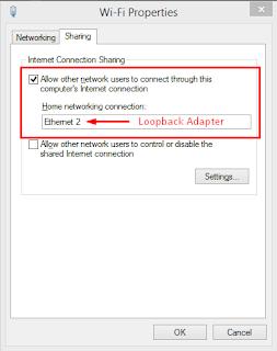 Konfigurasi Internet Sharing Pada Adapter Wireless