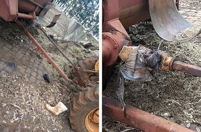 Agricultor tem perna dilacerada em acidente com trator em Marilândia do Sul