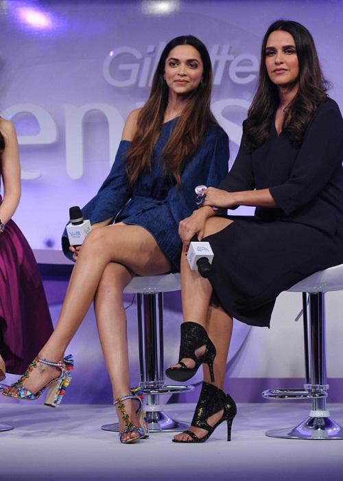 Deepika Padukone and Neha Dhupia at Gillette Breeze Launch