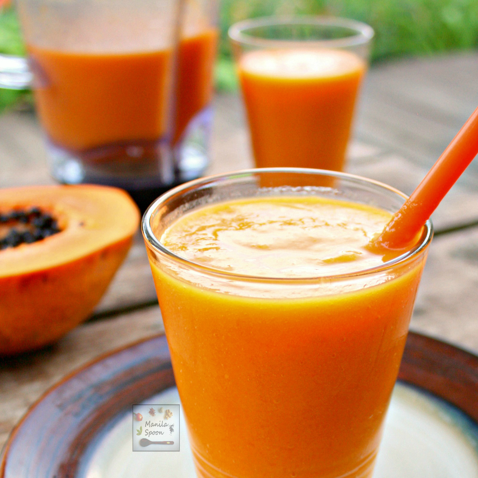 Mango Papaya Smoothie - Manila Spoon