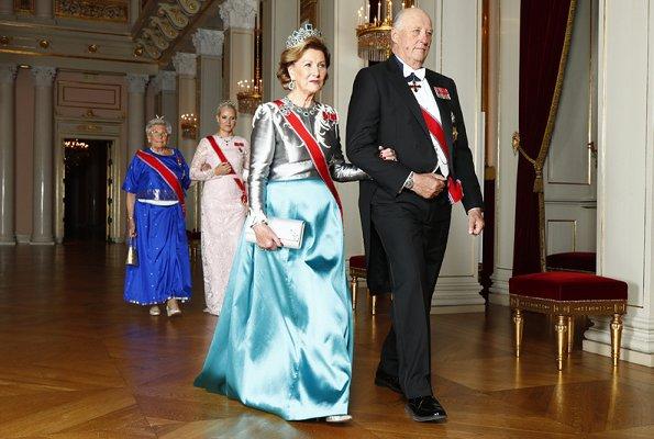 Crown Princess Mette-Marit diamond tiara, Queen Sonja's diamond tiara,Princess Astrid, Prince Haakon Funeral of King Bhumibol Adulyadej
