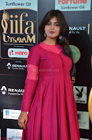 Monal Gajjar in Maroon Gown Stunning Cute Beauty at IIFA Utsavam Awards 2017 028.JPG