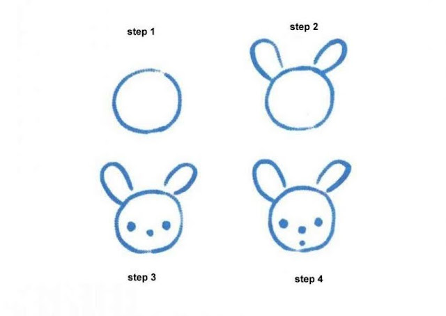 Learn to draw rabbit for kids