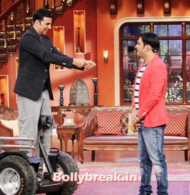 Akshay Kumar and Kapil Sharma, Akshay Kumar on Comedy nights with Kapil for Holiday movie promotion