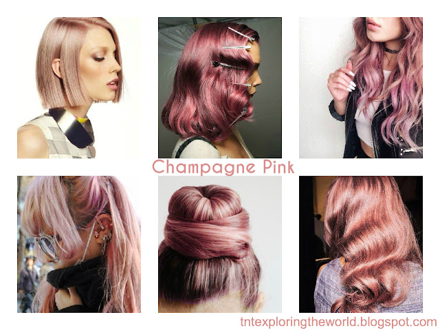 pink champagne hair