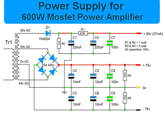 Free Wiring Diagram Car Power Amp Circuit With Pcb Design