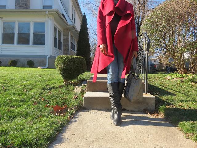 SheIn Ruffle Coat