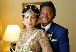 sri lankan cricketer Akila Dananjaya's wedding