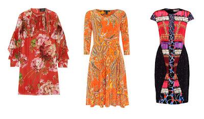 Платья с принтом ярких расцветок
