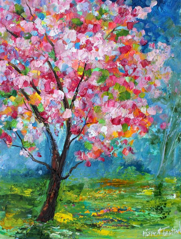 Karen Tarlton: Original oil paintings Bees and Spring Tree ...