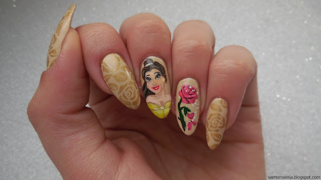 Beauty and the Beast - nails