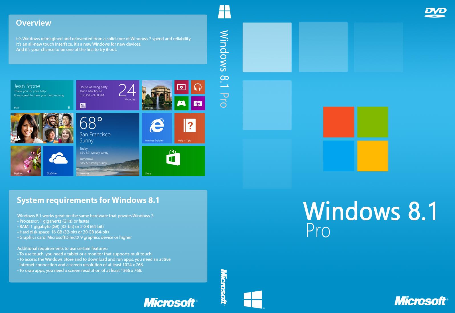 Window 8 1 Pro Full Version Softwares Free Download