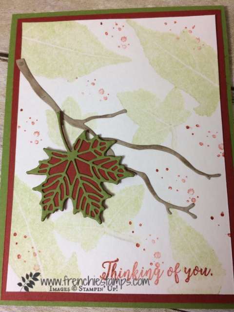 Big Shot leave press impression, Seasonal Layers Thinlits, Stampin'Up! Frenchiestamps,