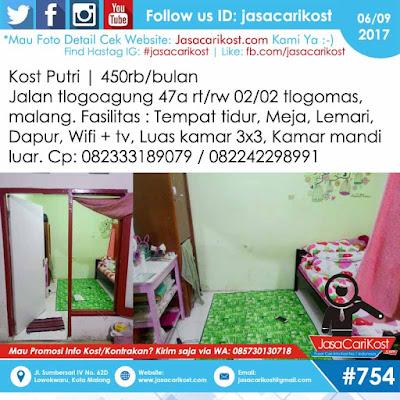 Info Kost Putri Tlogomas #314 Malang