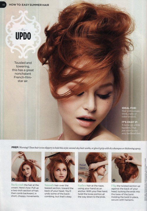 How to make the updo hairstyle
