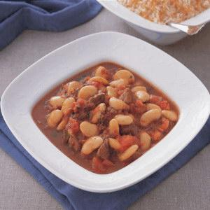Syrian White Beans and Meat Stew Recipe