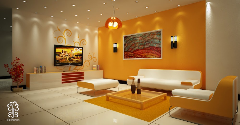 Beautiful-accent-wall-colorful-art-living-room