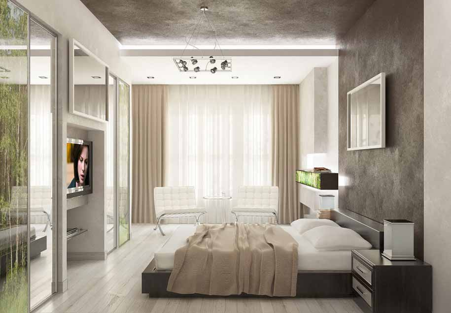 Desain apartemen mewah untuk gaya hidup modern for Design apartemen 2 kamar