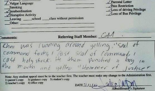 World of Warcraft detention