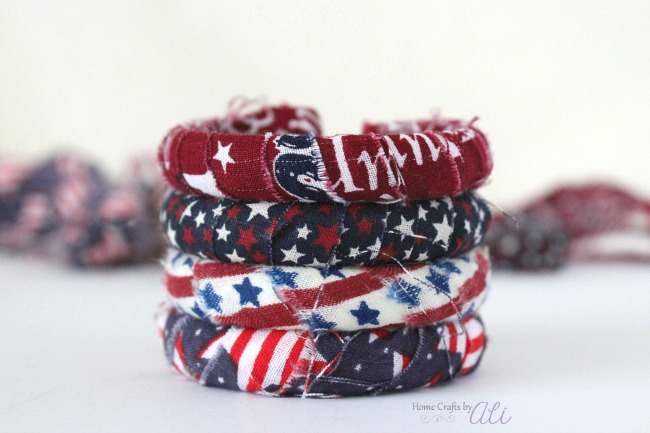 4th Fourth of July kids craft project diy bracelet