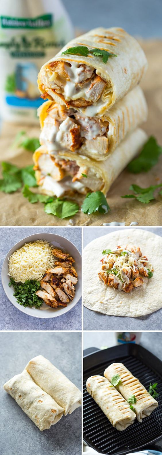 CHICKEN RANCH WRAPS #chicken #chickenrecipes #chickenranchwraps #lunchideas #lunchrecipes