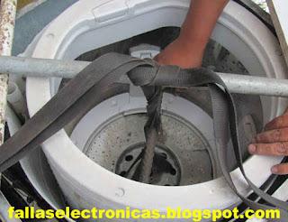 desmontar tambor de lavado