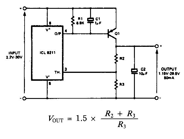Positive Regulator With Pnp Boost Circuit Diagram