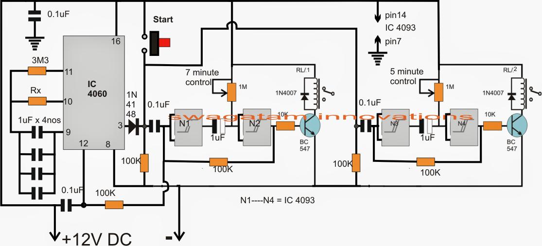 Aquarium Fish Feeder Timer Controller Circuit ~ Electronic