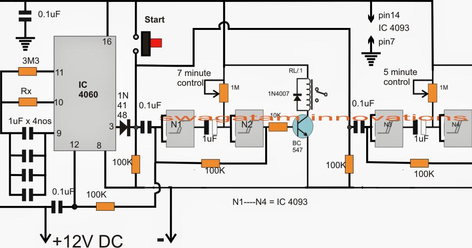 Aquarium Fish Feeder Timer Controller Circuit Electronic