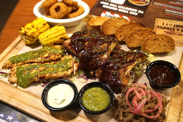 The Boss Platter of Born on the USA menu of TGI Friday's