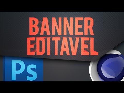 Banners editáveis para Youtube formato PSD