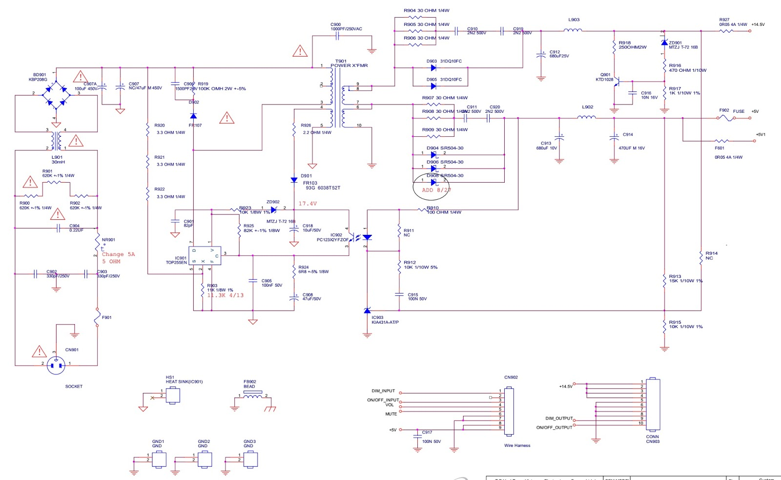 Aoc Envision L905a Led Monitor How To Enter Service Mode Smps Circuit Diagram Schematic And Pwb