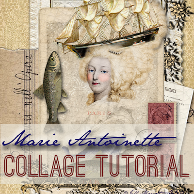 Marie Antoinette-Photoshop Digital Collage Tutorial ©Jill Marcott-McCall- For Graphics Fairy Premium Membership