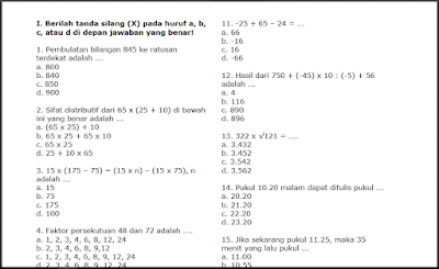 Kunci Jawaban Buku Matematika Kelas 5 Kurikulum 2013 Mata Pelajaran