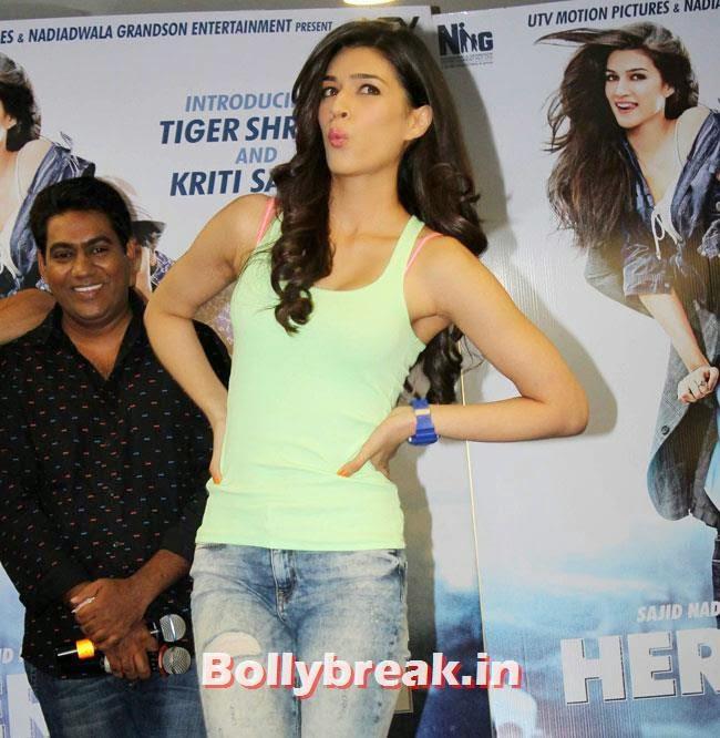 Kriti Sanon, Kriti Sanon sizzles in Green Tank Top at Promotion of Film Heropanti
